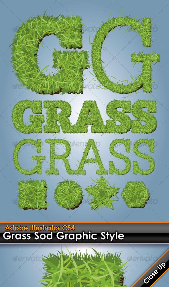 GraphicRiver Grass Sod Illustrator Graphic Style 103178