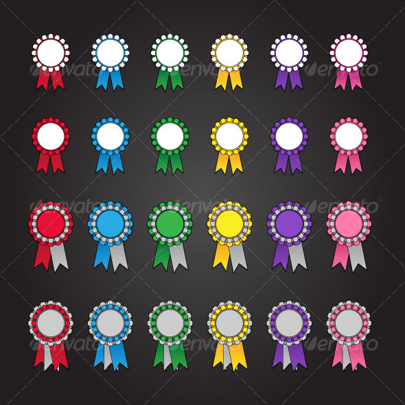 GraphicRiver 24 Rosette Icons 101840