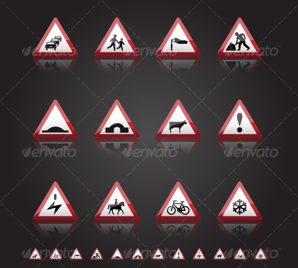 GraphicRiver UK Road Signs Warnings 3 71419