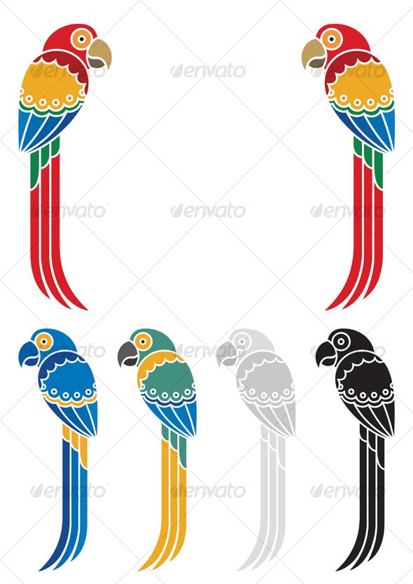 GraphicRiver Parrots 83521