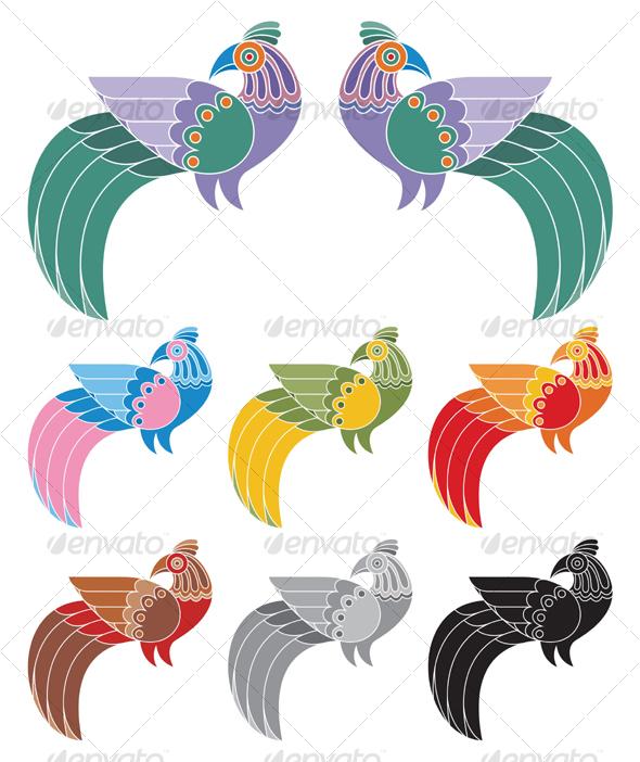 GraphicRiver Decorative Birds 83515