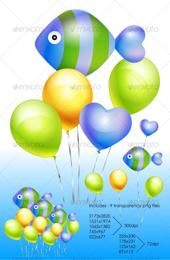 GraphicRiver Fish Balloon 105543