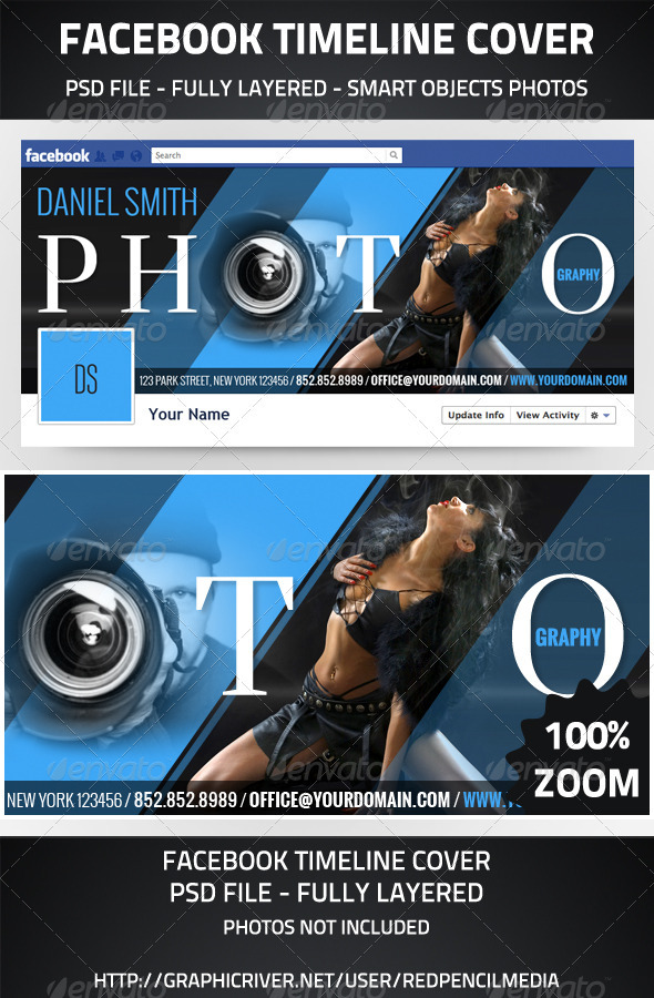 GraphicRiver Photography Facebook Timeline Cover 2954329