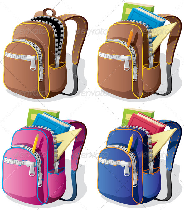 GraphicRiver School Backpack 410688