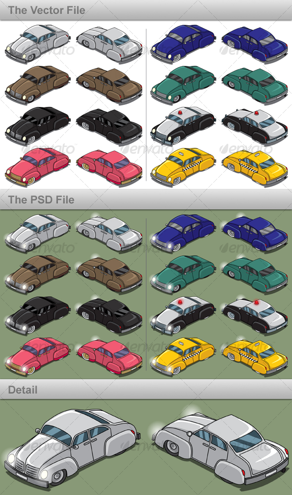 GraphicRiver Retro Cars 88353