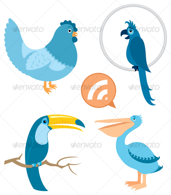 GraphicRiver Blue Birds Part 1 91296