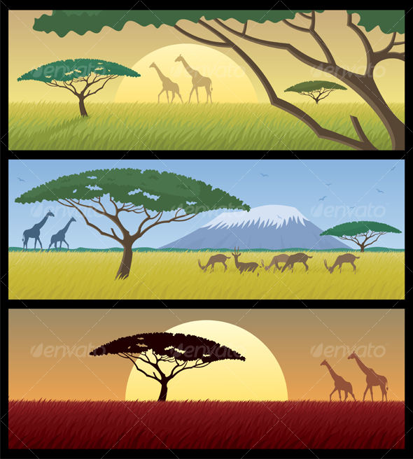 GraphicRiver Africa Landscapes 94150
