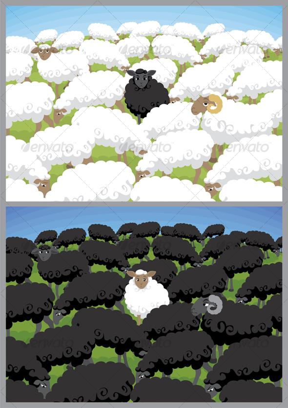 GraphicRiver Black Sheep 99509