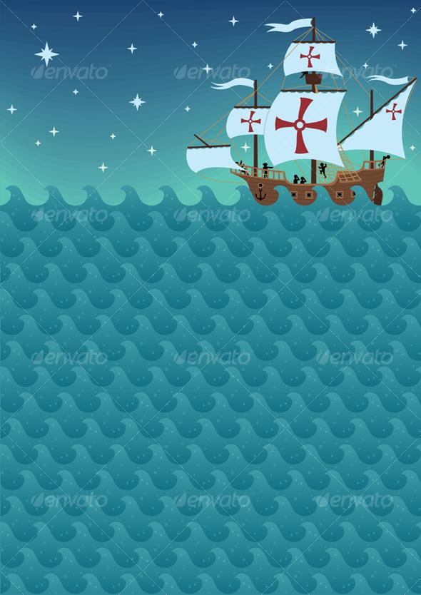 GraphicRiver Sailboat Background 100099
