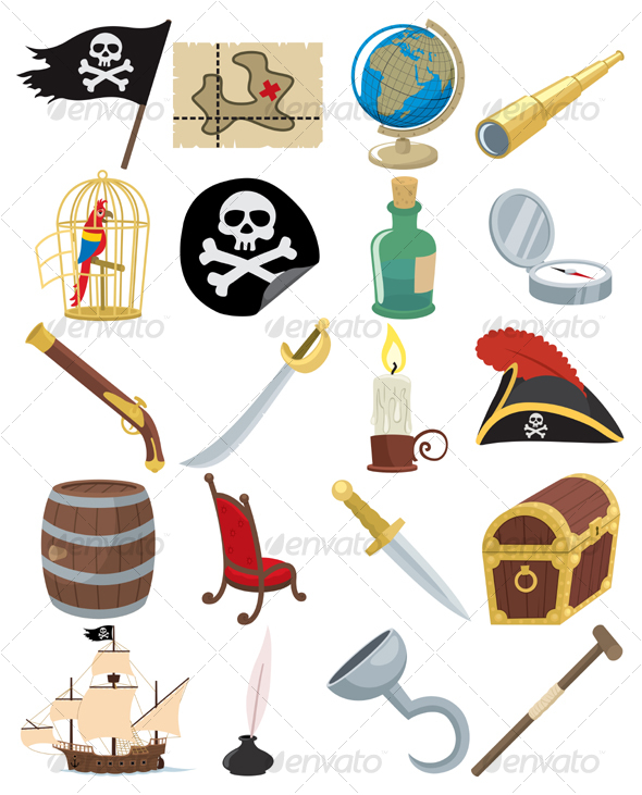 GraphicRiver Pirate Icons 102979
