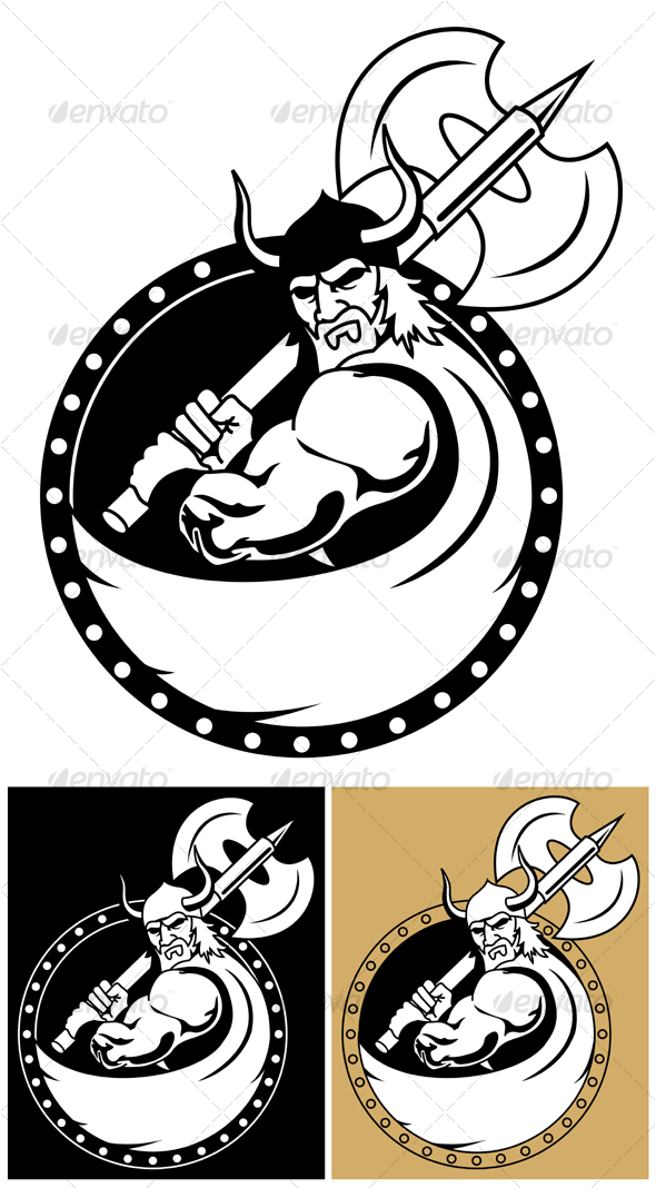 GraphicRiver Viking With Axe 104552
