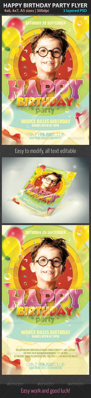 GraphicRiver Happy Birthday Party Flyer 2958296
