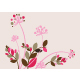 Beautiful Floral Background in Soft Pink - GraphicRiver Item for Sale