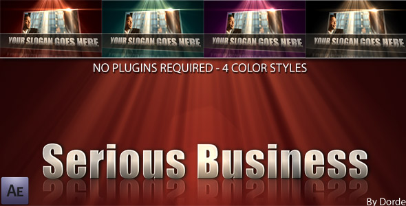 After Effects Project - VideoHive Serious Business 105706