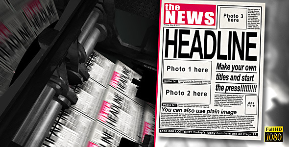 After Effects Project - VideoHive Press Machine Headlines 2963302