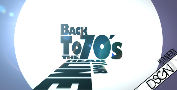 After Effects Project - VideoHive Back in the 70's nice typographic Opener 105821