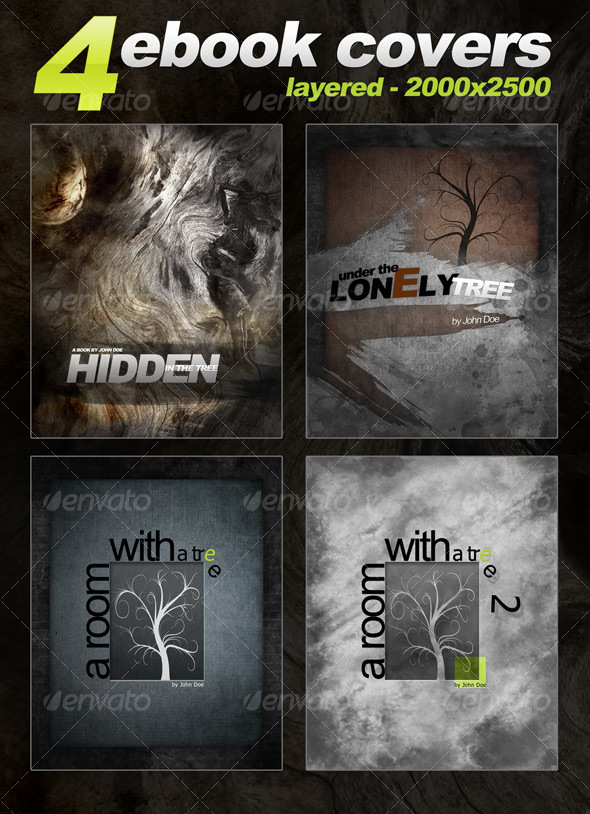 GraphicRiver 4 eBook Templates vertical 2000x2500 layered 105828