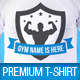 Bodybuilding Gym Club Promotion T-Shirt Template - GraphicRiver Item for Sale