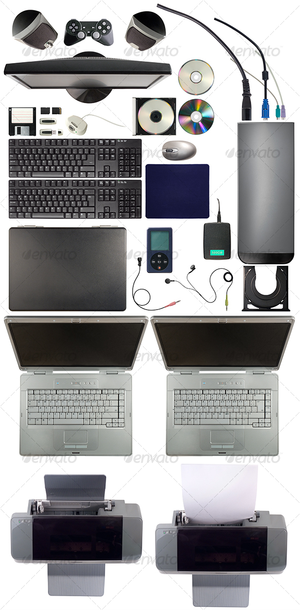 GraphicRiver Computer Equipment Pack 106099