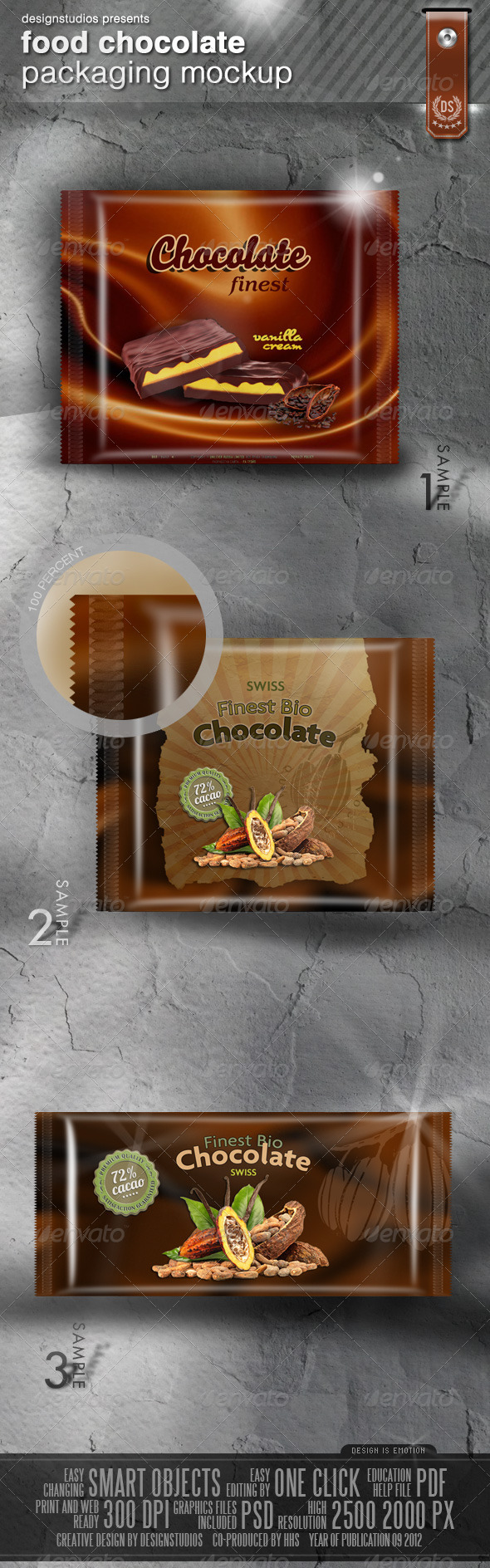 Graphic River Food Chocolate Packaging Mock-Up Graphics -  Product Mock-Ups  Miscellaneous 506027