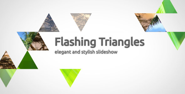After Effects Project - VideoHive Flashing triangles elegant slideshow 3086 ...