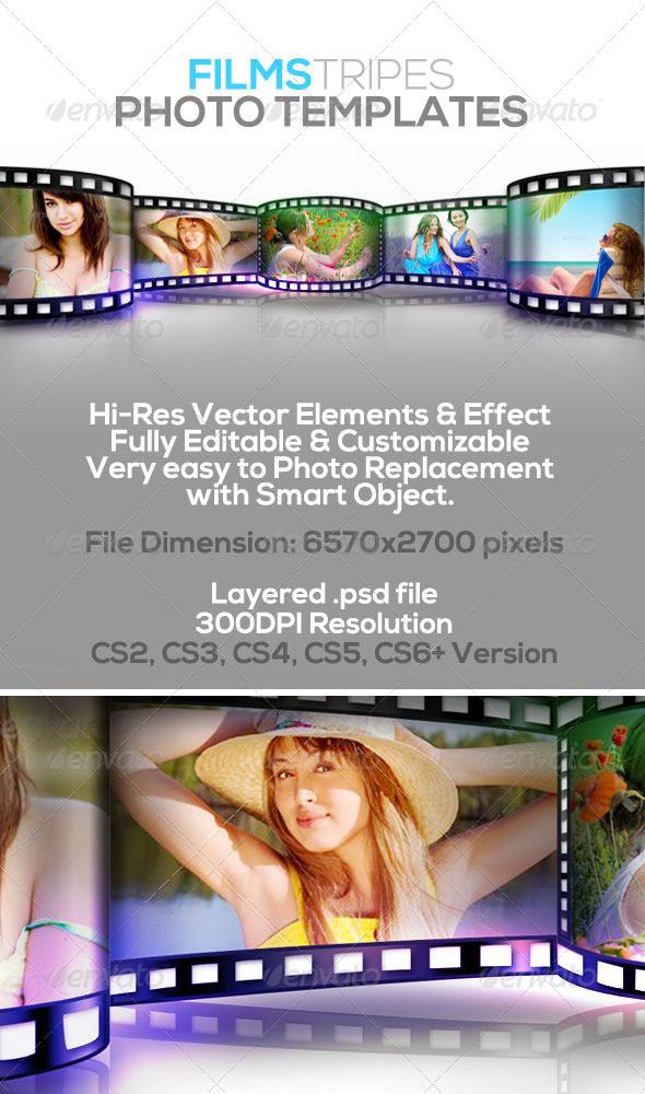 GraphicRiver Film Stripes Photo Templates 2980940