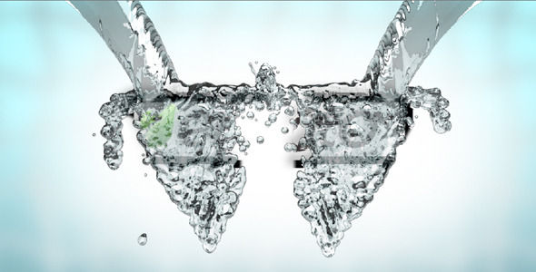 After Effects Project - VideoHive water splash logo Reveal 308652