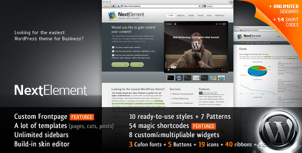 Themeforest NextElement 10-in-1 Business WP Theme V1.2