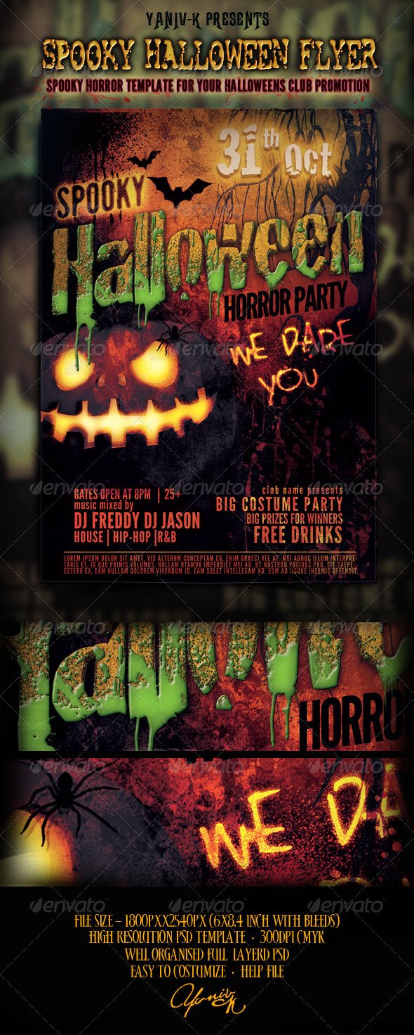 GraphicRiver Spooky Halloween Flyer Template 2983224