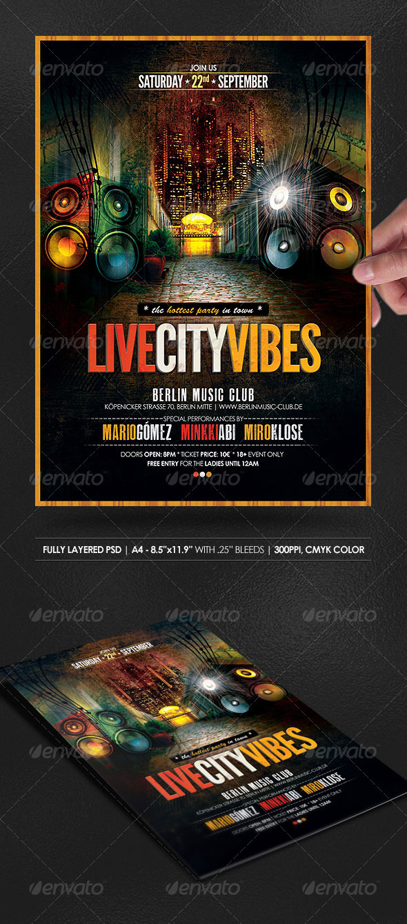GraphicRiver Live City Vibes Poster Flyer 2985366