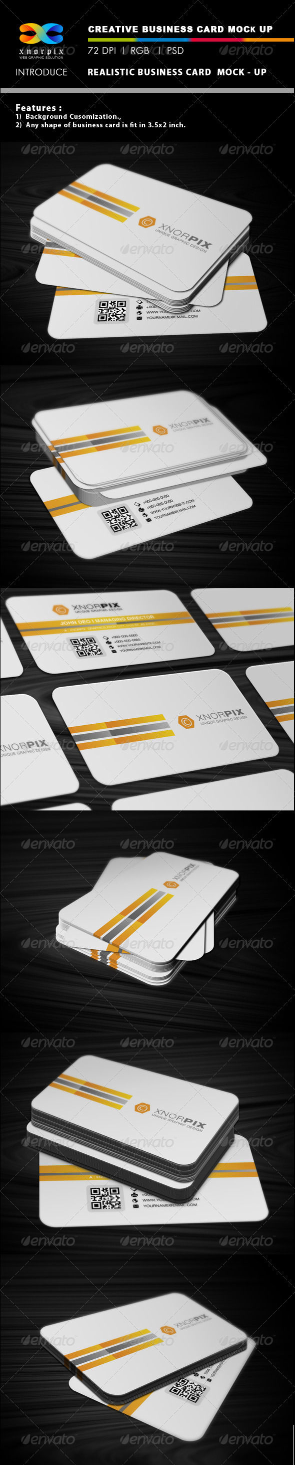 GraphicRiver Realistic Business Card Mock-up 2972154