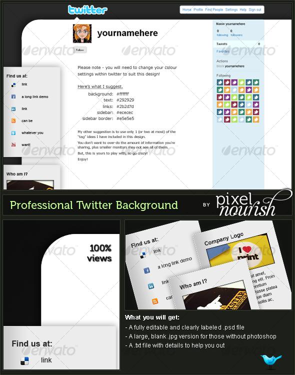 GraphicRiver Professional Tag Twitter BG 80440