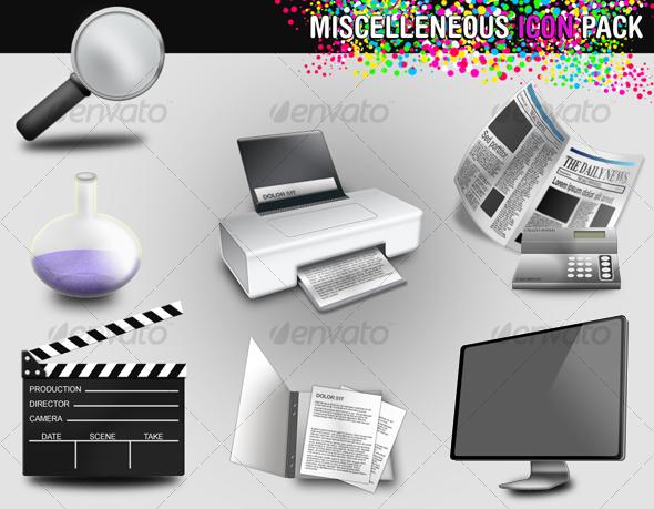 GraphicRiver Miscellaneous icon pack 106494