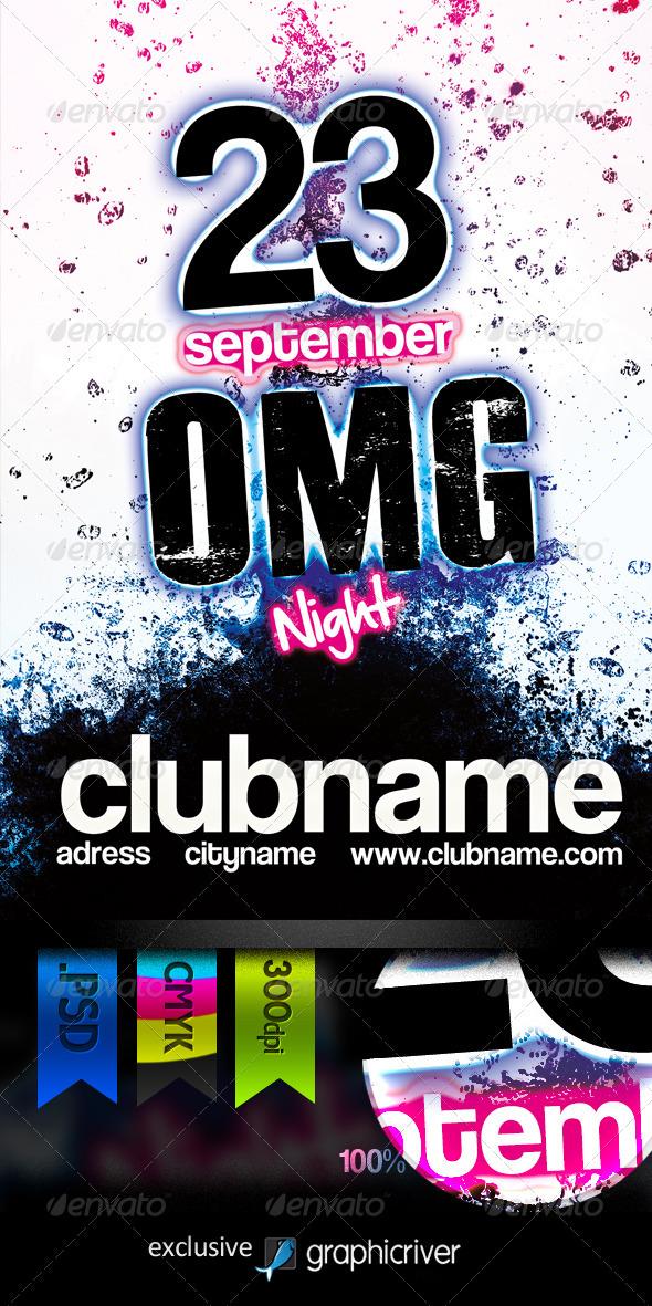GraphicRiver Omg Night Flyer 308763