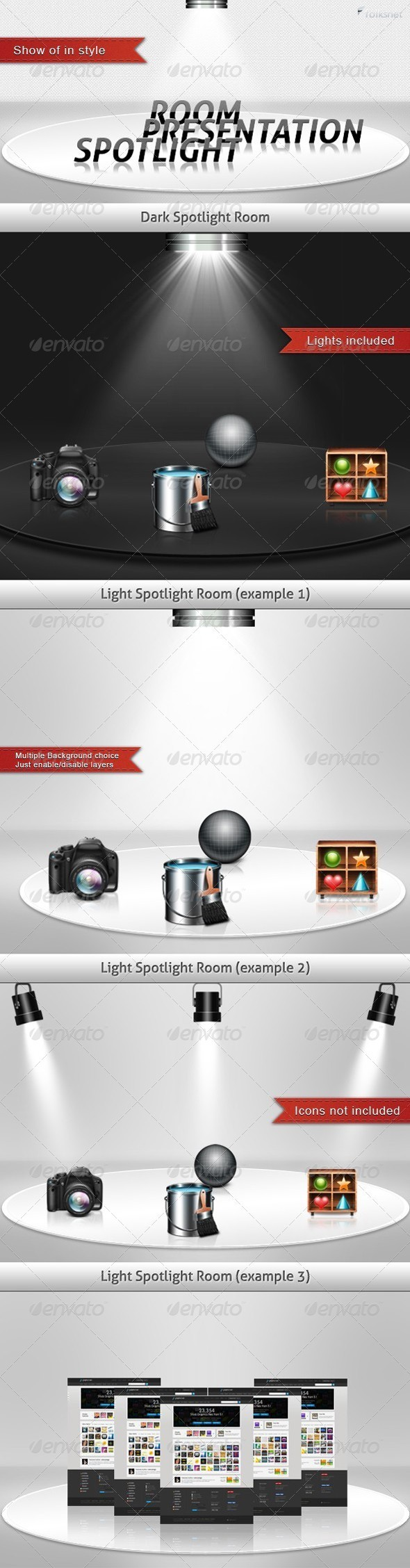 GraphicRiver Spotlight Presentation Room 308671