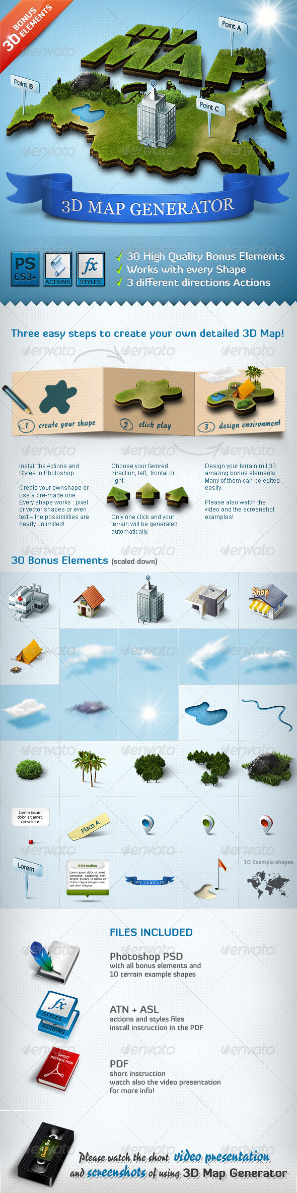 GraphicRiver 3D Map Generator Action 308808