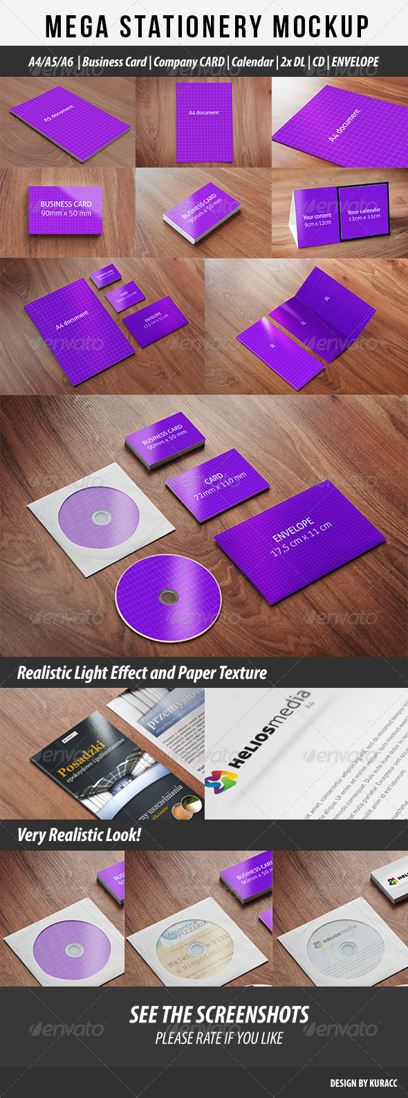 GraphicRiver Mega Stationary Mock Up 9 in 1 2995909