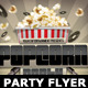 Popcorn Party Flyer Template - GraphicRiver Item for Sale