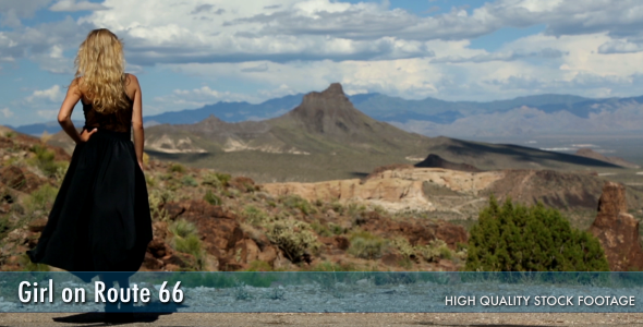 VideoHive Gril On Route 66 2997131