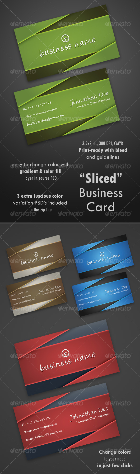 GraphicRiver Sliced Business Card 106793