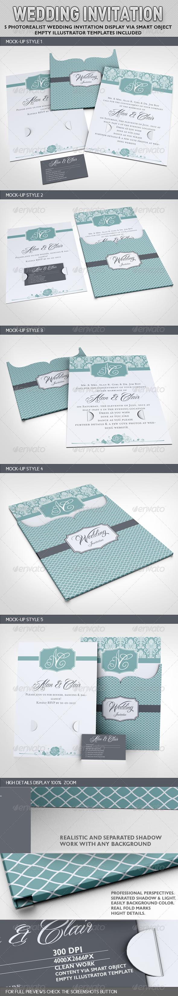 GraphicRiver Wedding Invitation Jacket Mock-up 2997519