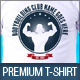 Bodybuilding Gym Club Promotion TShirt Template V2 - GraphicRiver Item for Sale