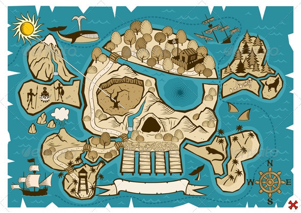 GraphicRiver Treasure Map 110821