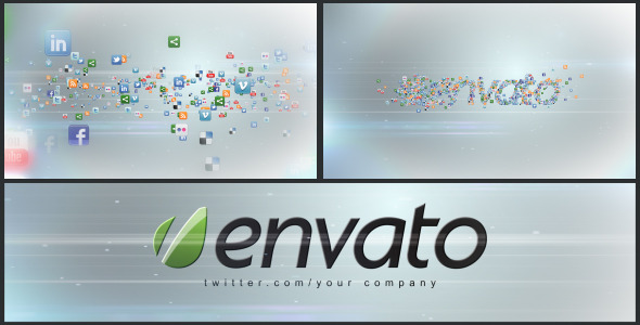 VideoHive Social Media Icons Logo Formation 2999243
