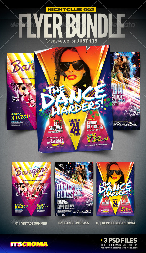 GraphicRiver Nightclub Flyer Bundle 002 2970819