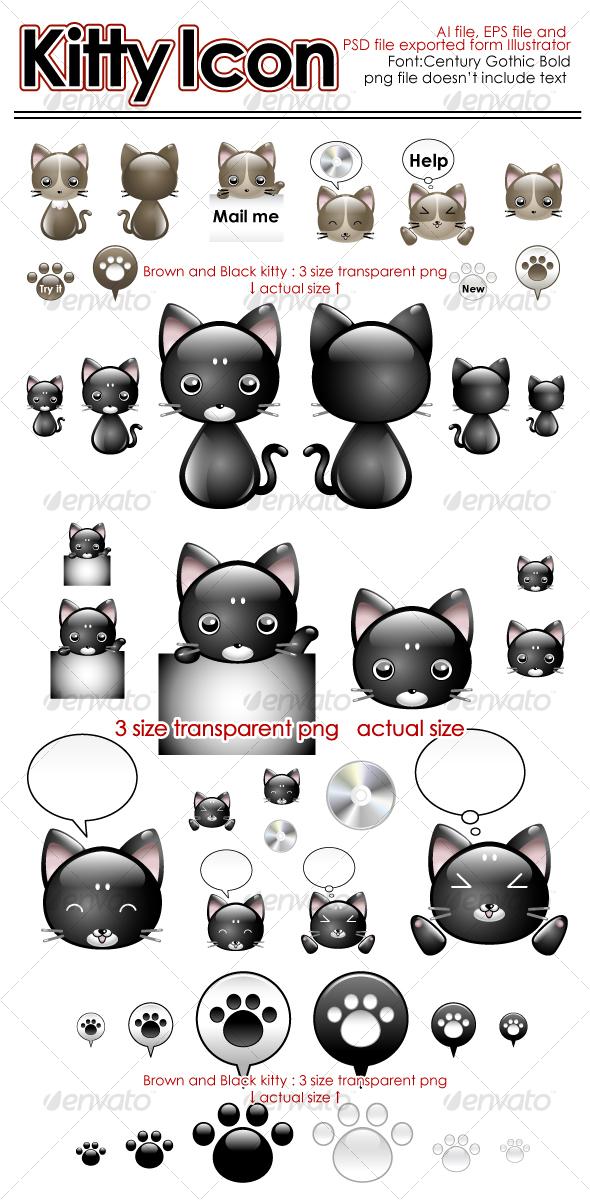 GraphicRiver Kitty Icon 106986