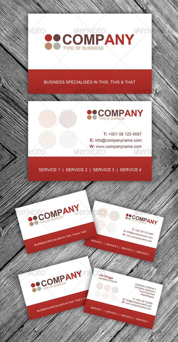 GraphicRiver Retro Modern Business Card 105620