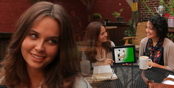 VideoHive Cafe Girls Meetup ScreenDub Bundle 3008171