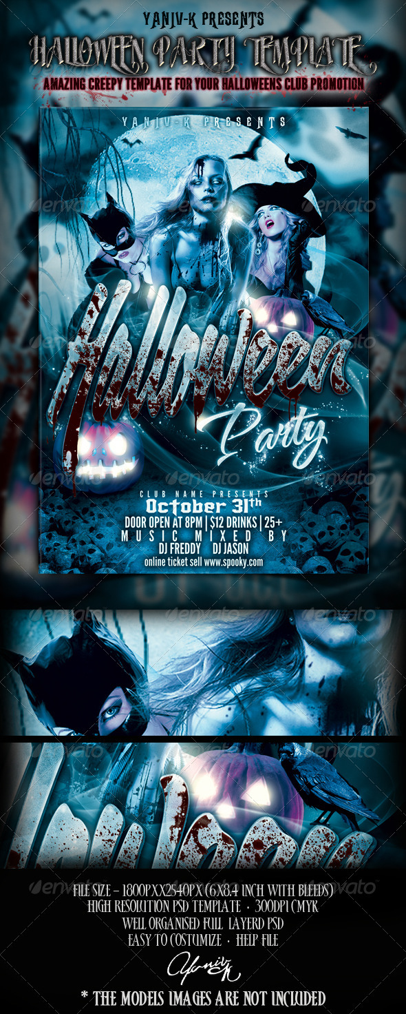 GraphicRiver Halloween Party Flyer Template 2994896
