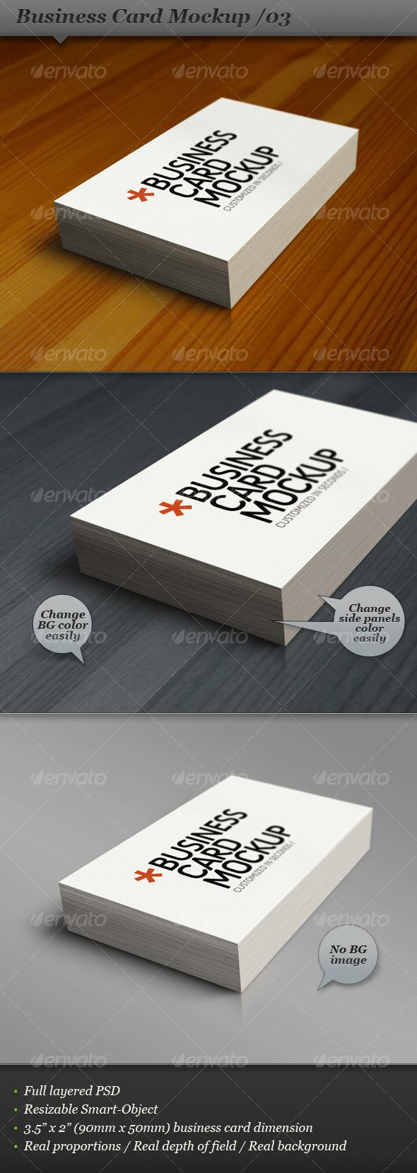GraphicRiver Business card mockup display Smart template 03 107132